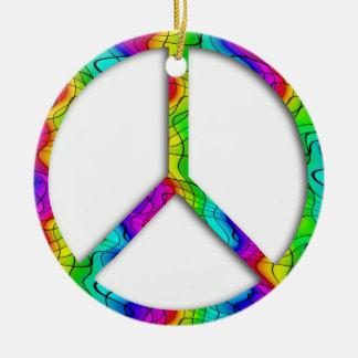 Rainbow Peace Sign Ornament