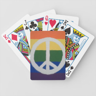 Rainbow Peace Sign Playing Cards