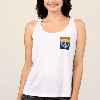 Rainbow Peace Sign Tank Top