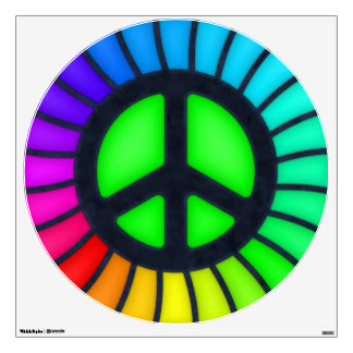 Rainbow Peace Sign Wall Decal