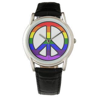 Rainbow Peace Sign Watch