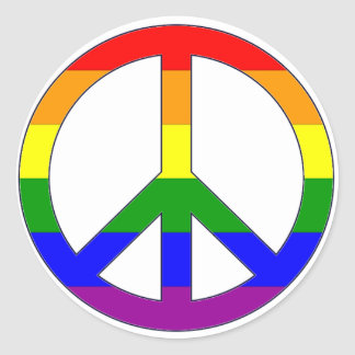 Rainbow Peace Symbol Sticker