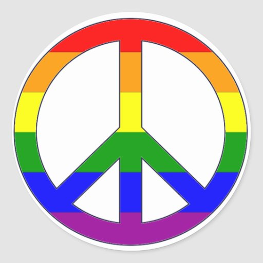 Rainbow Peace Symbol Sticker