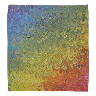 Rainbow Peacock Marble Do-rags