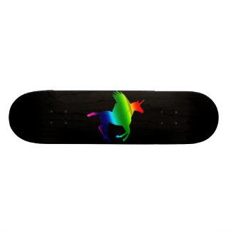 RAINBOW PEGACORN (IN BLACK ) SKATE BOARD