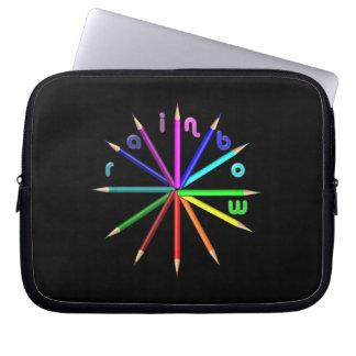 rainbow pencils laptop sleeve