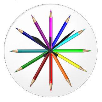 rainbow pencils tips out clocks