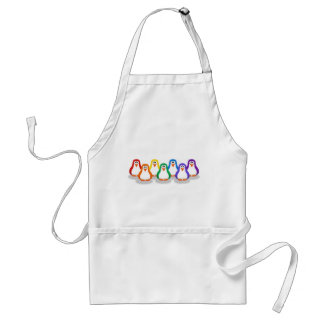 Rainbow Penguins Apron