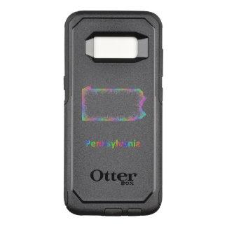 Rainbow Pennsylvania map OtterBox Commuter Samsung Galaxy S8 Case