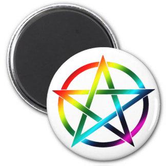 Rainbow Pentacle Magnet