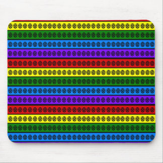 Rainbow Pentacle Mouse Pad