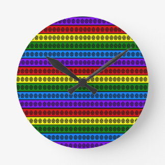 Rainbow Pentacle Round Clock
