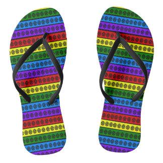 Rainbow Pentacles Flip Flops