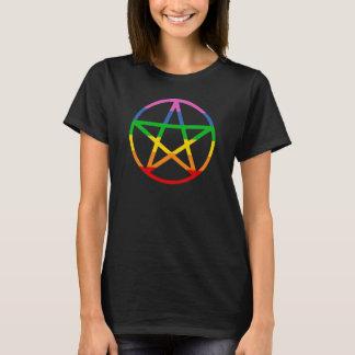 RAINBOW PENTAGRAM PAGAN PRIDE T-Shirt