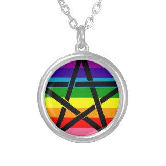 Rainbow Pentagram Pendant