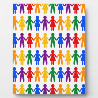Rainbow People Pattern Plaque