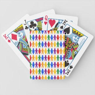 Rainbow People Pattern Poker Deck