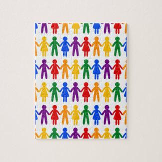 Rainbow People Pattern Puzzles