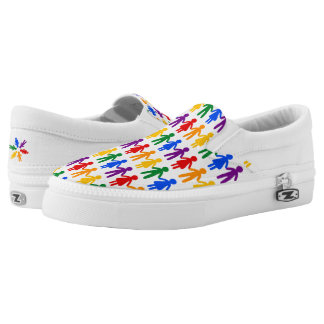 Rainbow People Slip-On Sneakers