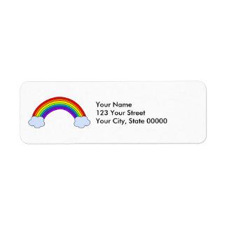 Rainbow Personalized Return Address Label