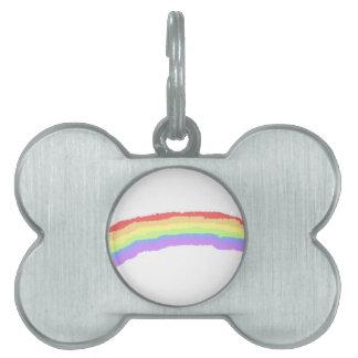 Rainbow Pet ID Tag
