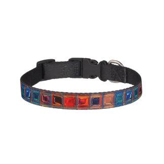 Rainbow Pet Mosaic Tile Primary Color ROYGBIV Pet Collars