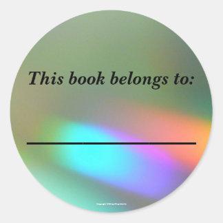 Rainbow Phantoms Bookplate Classic Round Sticker