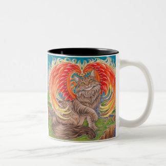 Rainbow Phoenix Maine Coon Cat Mug