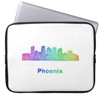 Rainbow Phoenix skyline Computer Sleeve