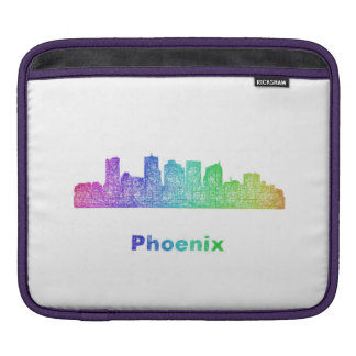 Rainbow Phoenix skyline Sleeve For iPads