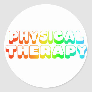 Rainbow Physical Therapy Round Sticker