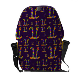 Rainbow Pi Pattern Messenger Bag