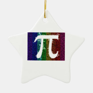 Rainbow Pi Sign Ceramic Star Ornament