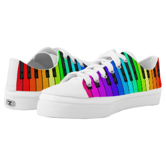 Rainbow Piano Keyboard Low Top Shoes