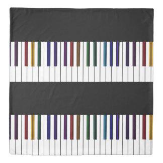Rainbow Piano Keyboard Music Bedspread