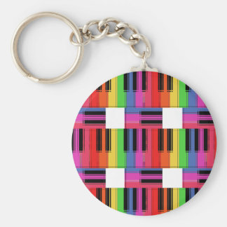 Rainbow Piano Keychain