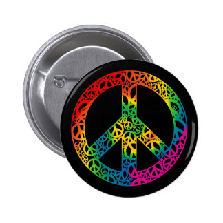 Rainbow Pieces of Peace 2 Inch Round Button