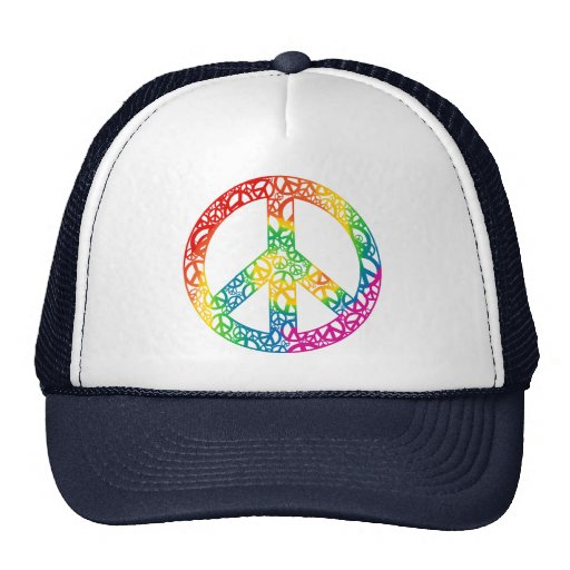 Rainbow Pieces of Peace Trucker Hat