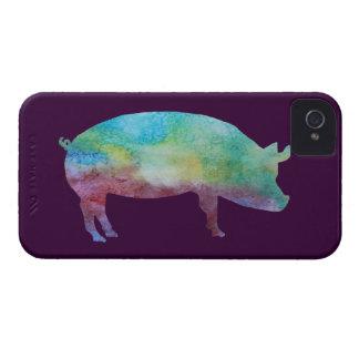 Rainbow Pig iPhone 4 Case-Mate Cases
