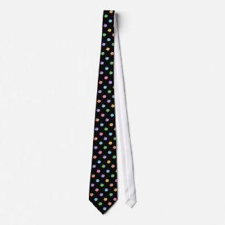 Rainbow Pig Pattern on black Tie