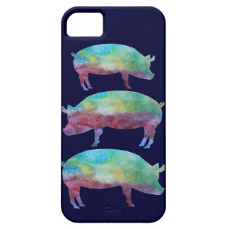 Rainbow Pig Stack iPhone 5 Case