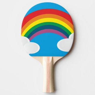 rainbow ping pong paddle
