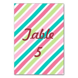 Rainbow Pink Stripes Card