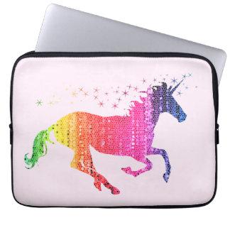 Rainbow Pink Unicorn Laptop Sleeve