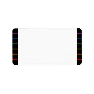 Rainbow Pinstripes LGBT Wedding   Event Blank Label