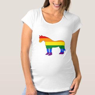 Rainbow Pitbull Maternity T-Shirt