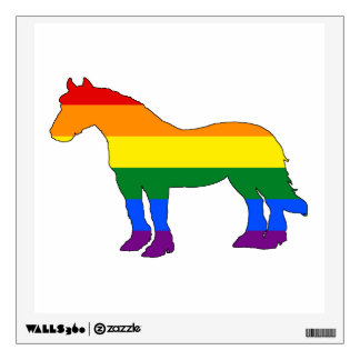 Rainbow Pitbull Wall Decal