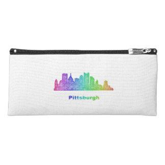 Rainbow Pittsburgh skyline Pencil Case
