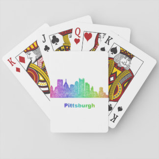 Rainbow Pittsburgh skyline Poker Deck