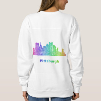 Rainbow Pittsburgh skyline Sweatshirt